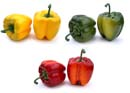 Artificial Large Bell Peppers - Assorted Box/6