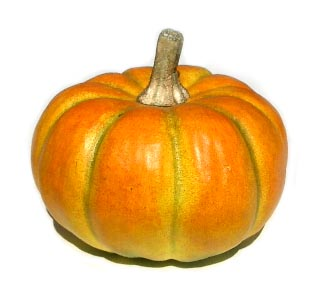 "3.25"" Light Orange Pumpkin"