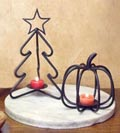 Wrought Iron Metal Candle Holders