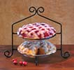 Two Tier Wrought Iron Pie/Plate Rack