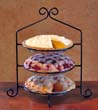 Three Tier Wrought Iron Pie/Plate Rack