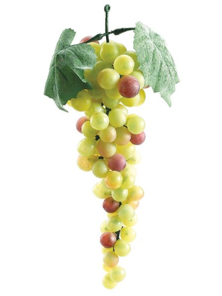 "10"" Artificial Grape Cluster - Green/Rose"
