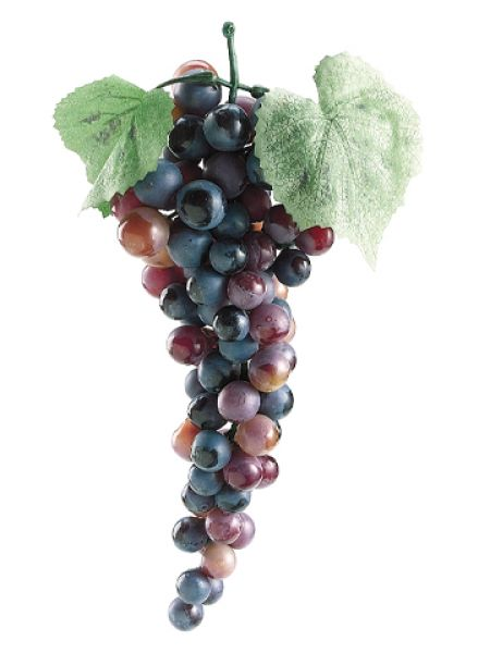 "10"" Artificial Grape Cluster - Burgundy"