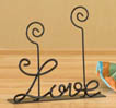 Mini Metal Word Art - Love - Note Holder